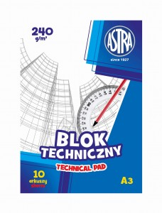BLOK TECHNICZNY ASTRA A3 240G 10A