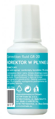 KOREKTOR W BUTELCE Z PĘDZELKIEM GRAND 20ML
