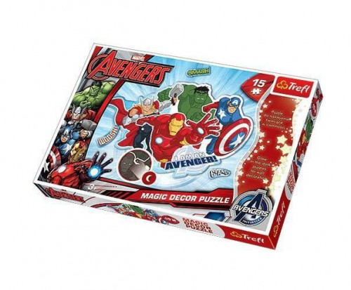 PUZZLE 15 TREFL MAGIC DECOR AVENGERS 14612