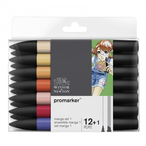 PROMARKER W&N ZESTAW 12+1 MANGA EXPANSION PACK 1