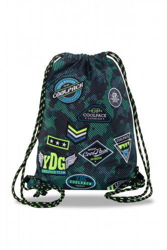 COOLPACK SPRINT WOREK SPORTOWY NA BUTY BADGES GREEN