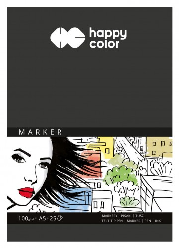 Blok do markerów Happy Color 25A 100g A5
