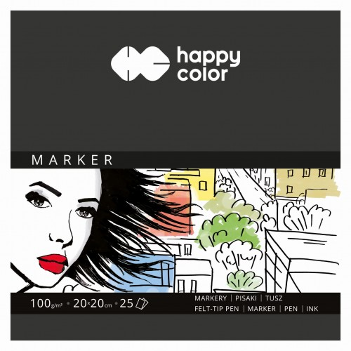Blok do markerów Happy Color 25A 100g 20x20