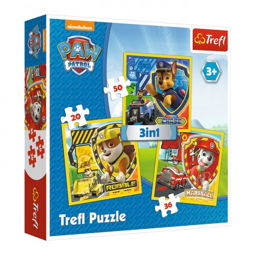 PUZZLE 3W1 TREFL PSI PATROL MARSHALL RUBBLE CHASE 34839 3+