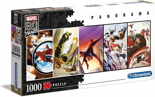 PUZZLE 1000 CLEMENTONI PANORAMA MARVEL 80 YEARS 39546