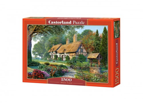PUZZLE 1500 CASTORLAND MAGIC PLACE CHATKA W LESIE C 150915