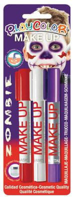 FARBY W SZTYFCIE PLAYCOLOR MAKE UP 3 KOLORY ZOMBI