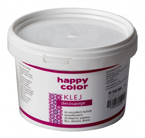 Klej do decoupage w wiaderku 500g Happy Color