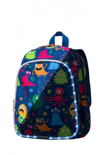 COOLPACK BOBBY PLECAK DZIECIĘCY LED MONSTERS 8 L