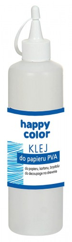 Klej do papieru PVA z aplikatorem 250g Happy Color